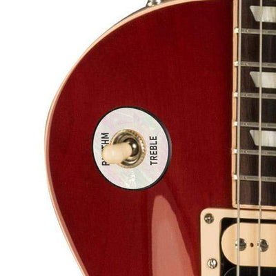GibsonbyThalia Gibson Custom Parts White Pearl | Les Paul Custom Parts Toggle Switch Washer / Cherry Sunburst / Exposed