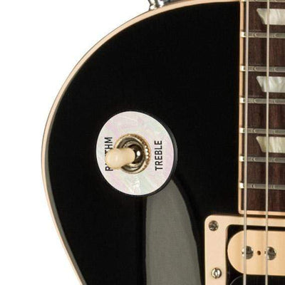 GibsonbyThalia Gibson Custom Parts White Pearl | Les Paul Custom Parts Toggle Switch Washer / Ebony / Exposed