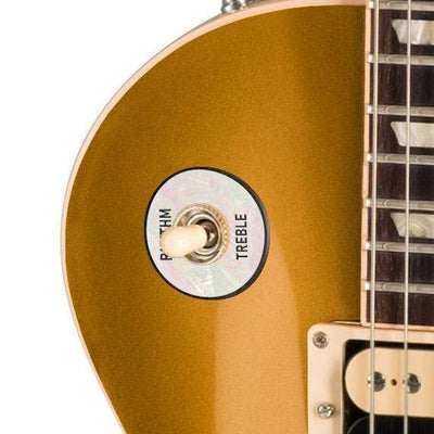 GibsonbyThalia Gibson Custom Parts White Pearl | Les Paul Custom Parts Toggle Switch Washer / Goldtop / Exposed