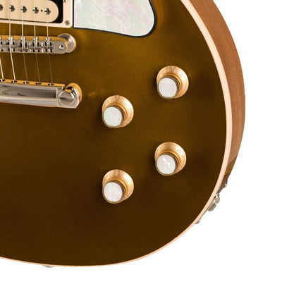 GibsonbyThalia Gibson Custom Parts White Pearl | Les Paul Custom Parts Top Hat Knobs / Goldtop / Exposed