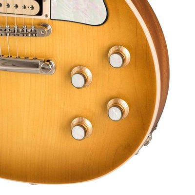 GibsonbyThalia Gibson Custom Parts White Pearl | Les Paul Custom Parts Top Hat Knobs / Honeyburst / Exposed