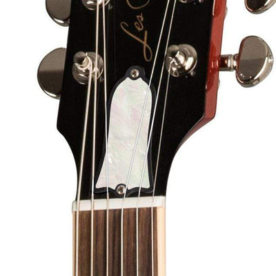 GibsonbyThalia Gibson Custom Parts White Pearl | Les Paul Custom Parts Truss Rod Cover / Translucent Cherry / Exposed