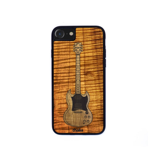 GibsonbyThalia Phone Case AAA Curly Koa & Gibson SG Hawaiian Koa Inlaid Guitar | Phone Case iPhone XS Max