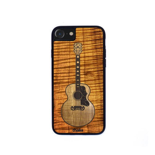 GibsonbyThalia Phone Case AAA Curly Koa & Gibson SJ-200 Hawaiian Koa Inlaid Guitar | Phone Case iPhone XS Max