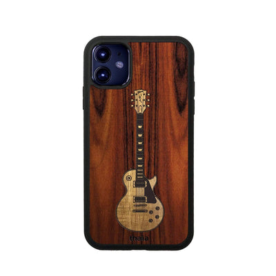GibsonbyThalia Phone Case iPhone 11 Santos Rosewood & Gibson Les Paul Hawaiian Koa Inlaid Guitar | Phone Case iPhone 11