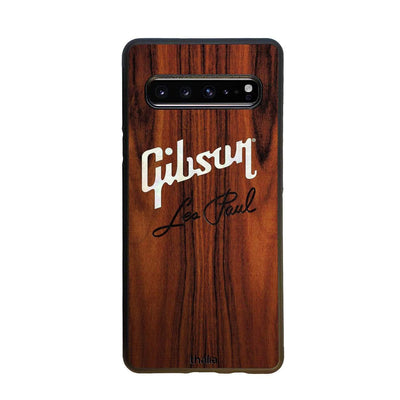 GibsonbyThalia Phone Case iPhone 5 Santos Rosewood & Gibson Pearl Logo with Les Paul Script Engraved | Phone Case iPhone 5/5S