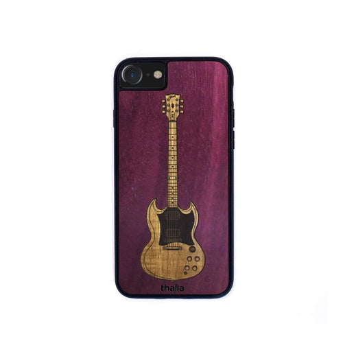 GibsonbyThalia Phone Case Purpleheart & Gibson SG Hawaiian Koa Inlaid Guitar | Phone Case iPhone XS Max