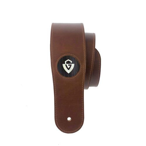 GuildbyThalia BF-Strap Black Ebony & Guild Pearl G-Shield Italian Leather Strap | BLACK FRIDAY SPECIAL