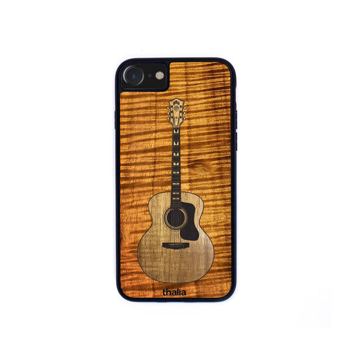 Thalia Phone Case AAA Curly Koa & Guild F-55 Hawaiian Koa Inlaid Guitar | Phone Case iPhone XS Max