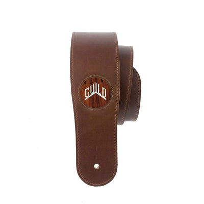 GuildbyThalia Strap Santos Rosewood & Guild Pearl Logo | Italian Leather Strap