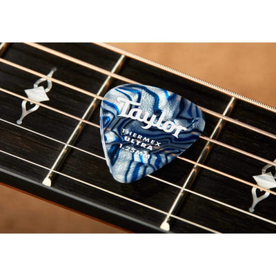 Taylor Picks Taylor Premium 351 Thermex Ultra Blue Swirl 6-Pack | Guitar Picks