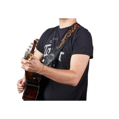 Taylor Strap Taylor Nouveau Embroidered | Leather Guitar Strap