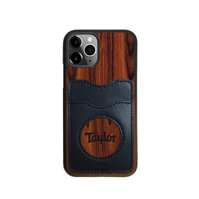 TaylorbyThalia Phone Case Santos Rosewood & Taylor Logo Inked | Wallet Phone Case iPhone 11 Pro