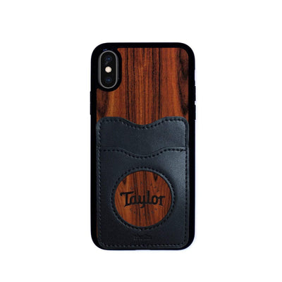 TaylorbyThalia Phone Case Santos Rosewood & Taylor Logo Inked | Wallet Phone Case iPhone X/XS