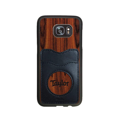 TaylorbyThalia Phone Case Santos Rosewood & Taylor Logo Inked | Wallet Phone Case Samsung Galaxy S7 Edge