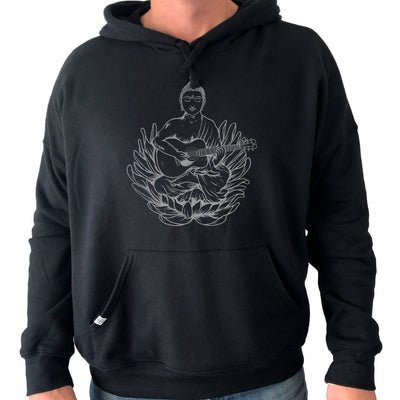Thalia Apparel Buddha Plays OM Guitar | Premium Hoodie Black / S