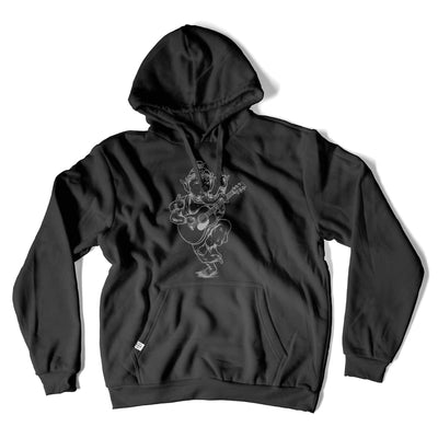 Thalia Apparel Ganesh Plays 000 Acoustic Guitar | Premium Hoodie Black / S
