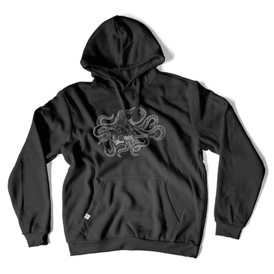 Thalia Apparel Octopus Plays GS Guitar | Premium Hoodie Black / S