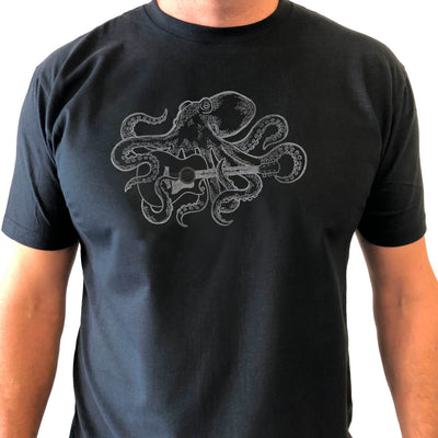Thalia Apparel Octopus Plays GS Guitar | Premium T-Shirt