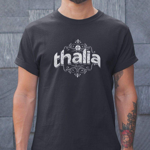 Thalia Apparel Thalia Distressed Logo |  Basic Tri-Blend T-Shirt Black / XS