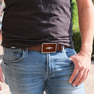 Thalia Belts Indian Rosewood & Taylor 700 Series Reflections | Premium Leather Belt