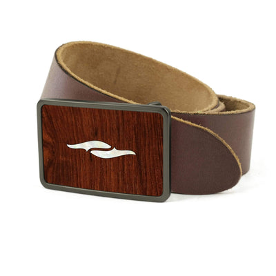 Thalia Belts Indian Rosewood & Taylor 800 Series Element | Premium Leather Belt Brushed Black / Dark Brown / 26