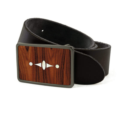 Thalia Belts Santos Rosewood & Taylor 500 Series Century | Premium Leather Belt Brushed Black / Black / 26