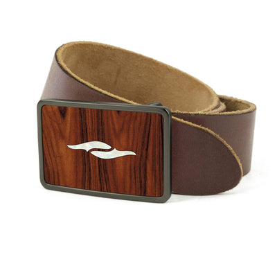 Thalia Belts Santos Rosewood & Taylor 800 Series Element | Premium Leather Belt Brushed Black / Dark Brown / 26