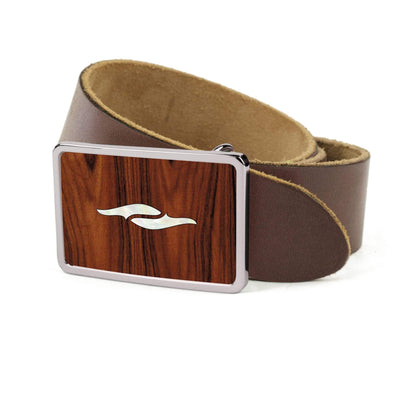 Thalia Belts Santos Rosewood & Taylor 800 Series Element | Premium Leather Belt Chrome / Dark Brown / 26