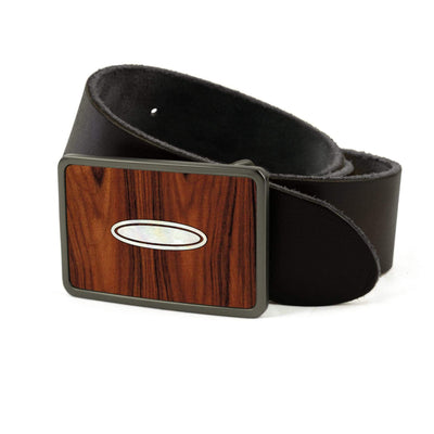 Thalia Belts Santos Rosewood & Taylor Progressive Dots | Premium Leather Belt Brushed Black / Black / 26