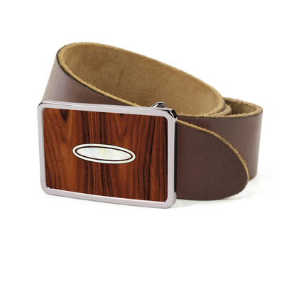 Thalia Belts Santos Rosewood & Taylor Progressive Dots | Premium Leather Belt Chrome / Dark Brown / 26