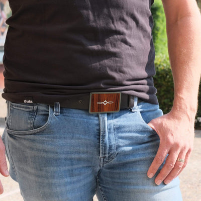 Thalia Belts Santos Rosewood & Taylor Twisted Ovals | Premium Leather Belt