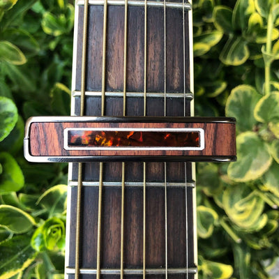 Thalia Capo Brazilian Kingwood & Tiger Rye Inlay | Small Batch Capo