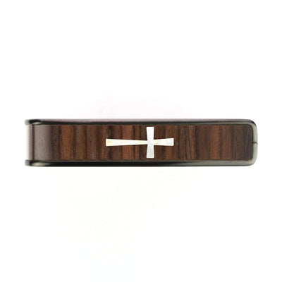 Thalia Capo Indian Rosewood & Cross MOP | Capo Brushed Black / Bass (attach capo from top of neck)