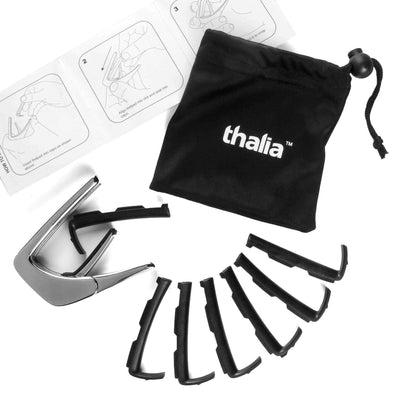 Thalia Capo Indian Rosewood & Peace Symbol MOP | Capo Black Chrome / Treble (attach capo from bottom of neck)