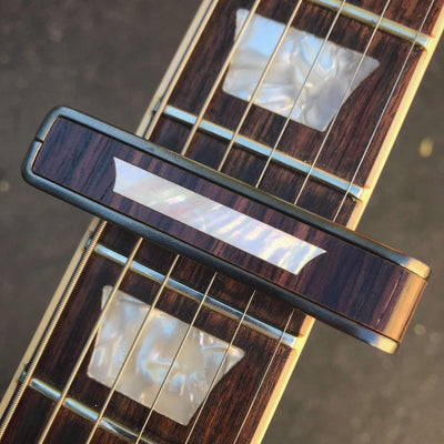 Thalia Capo Indian Rosewood & Trapezoid MOP | Capo Black Chrome / Bass (attach capo from top of neck)