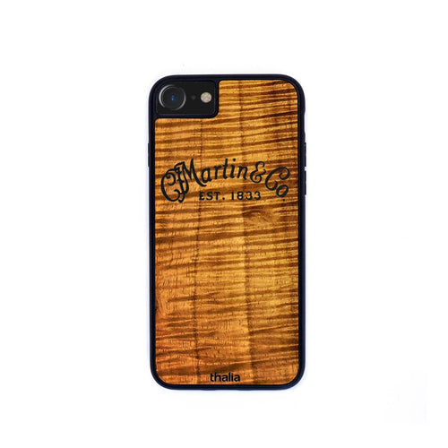 Thalia Phone Case AAA Curly Hawaiian Koa & C.F. Martin Inked Logo | Phone Case iPhone XS Max