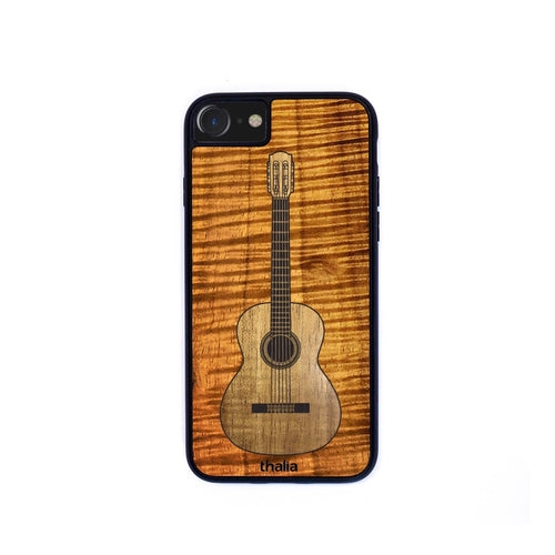 Thalia Phone Case AAA Curly Koa & Classical Hawaiian Koa Inlaid Guitar | Phone Case iPhone XS Max