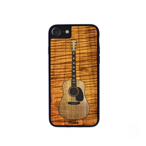 Thalia Phone Case AAA Curly Koa & Dreadnaught Hawaiian Koa Inlaid Guitar | Phone Case iPhone XS Max