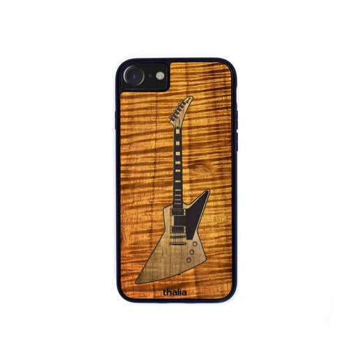 Thalia Phone Case AAA Curly Koa & Gibson Explorer Hawaiian Koa Inlaid Guitar | Phone Case iPhone XS Max
