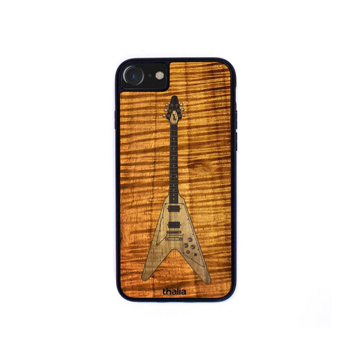Thalia Phone Case AAA Curly Koa & Gibson Flying V Hawaiian Koa Inlaid Guitar | Phone Case iPhone XS Max