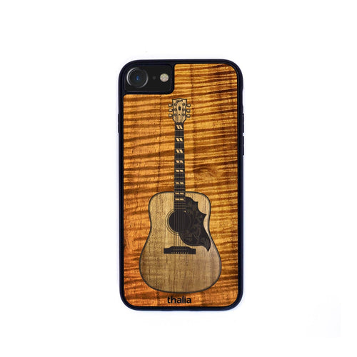Thalia Phone Case AAA Curly Koa & Gibson Hummingbird Hawaiian Koa Inlaid Guitar | Phone Case iPhone XS Max