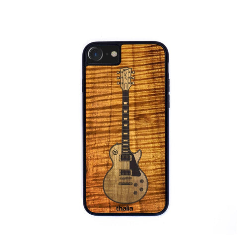 Thalia Phone Case AAA Curly Koa & Gibson Les Paul Hawaiian Koa Inlaid Guitar | Phone Case iPhone XS Max