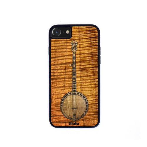 Thalia Phone Case AAA Curly Koa & Hawaiian Koa Inlaid Banjo | Phone Case iPhone XS Max