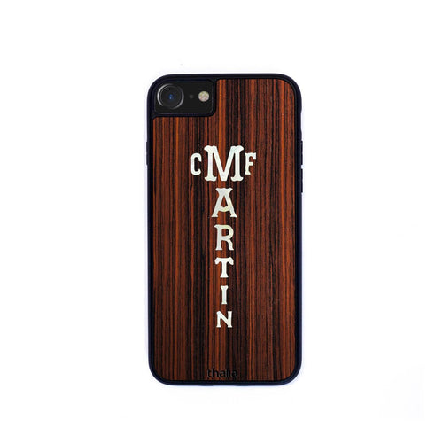 Thalia Phone Case Indian Rosewood & C.F. Martin Pearl Logo | Phone Case iPhone XS Max