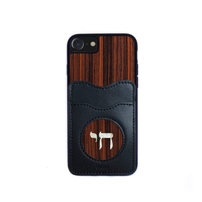 Thalia Phone Case Indian Rosewood & Pearl Chai | Wallet Phone Case iPhone 11 Pro Max