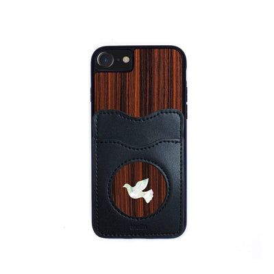 Thalia Phone Case Indian Rosewood & Pearl Dove | Wallet Phone Case iPhone 11 Pro Max