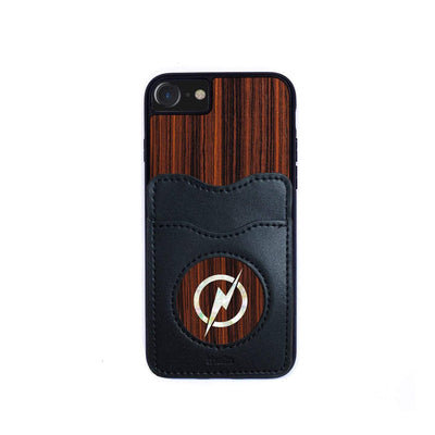 Thalia Phone Case Indian Rosewood & Pearl Lightning Bolt | Wallet Phone Case iPhone 11 Pro Max