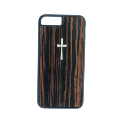 Thalia Phone Case iPhone 6/7/8 Plus Macassar Ebony & Cross MOP | Phone Case iPhone 6/7/8 Plus