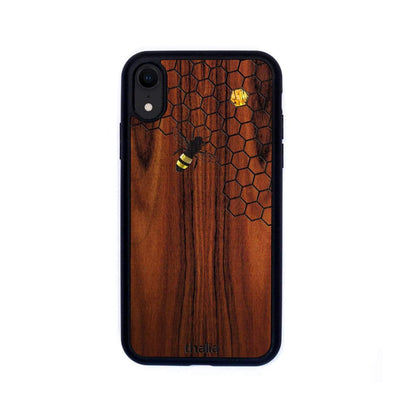 Thalia Phone Case iPhone XR Santos Rosewood & Bee with Honeycomb | Phone Case iPhone XR